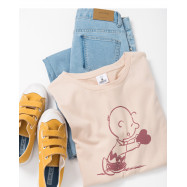 image of 查理‧布朗給愛心印圖T恤 Charlie Brown Gives A Love Printed T-Shirt