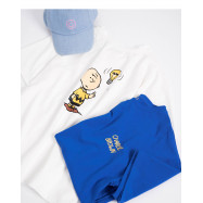 image of 查理‧布朗背後圖案T恤 兩色售 Charlie Brown Behind The Pattern T-Shirt Two-Color