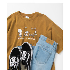 image of 查理‧布朗有趣海盜印花T恤 Charlie Brown Funny Pirate Print T-Shirt