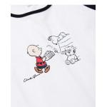 查理‧布朗人物棒球袖長版洋裝 Charlie Brown Character Baseball Sleeve Dress