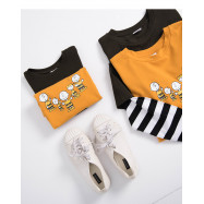image of  查理‧布朗童裝親子棒球T恤 兩色售 Charlie Brown Kids Kids Baseball T-Shirt Two-Color