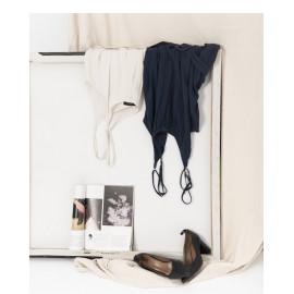 image of 附腰帶造型吊帶連身褲 兩色售 Belted Sling Jumpsuit Two Colors