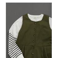 image of 女裝 親子系列休閒素色連身褲 Women's Parent-Child Series Casual Plain Jumpsuit
