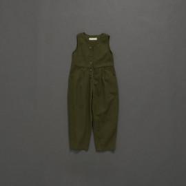 image of 童裝 親子系列休閒素色連身褲 Children's Wear Parent-Child Series Casual Plain Jumpsuit