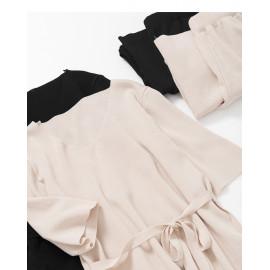 image of V領設計針織套裝 兩色售 V-Neck Design Knit Suit Two Colors
