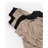 image of 抓皺造型細坑條套裝 兩色售 Wrinkle Shape Fine Pit Set Two-Colors