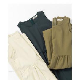 image of 簡約素色無袖棉麻連身褲 三色售 Simple Plain Sleeveless Cotton And Linen Jumpsuit Three-Colors
