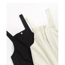 image of 魚尾下擺開衩吊帶裙 兩色售 Fishtail Hem Open Halter Skirt Two-Colors