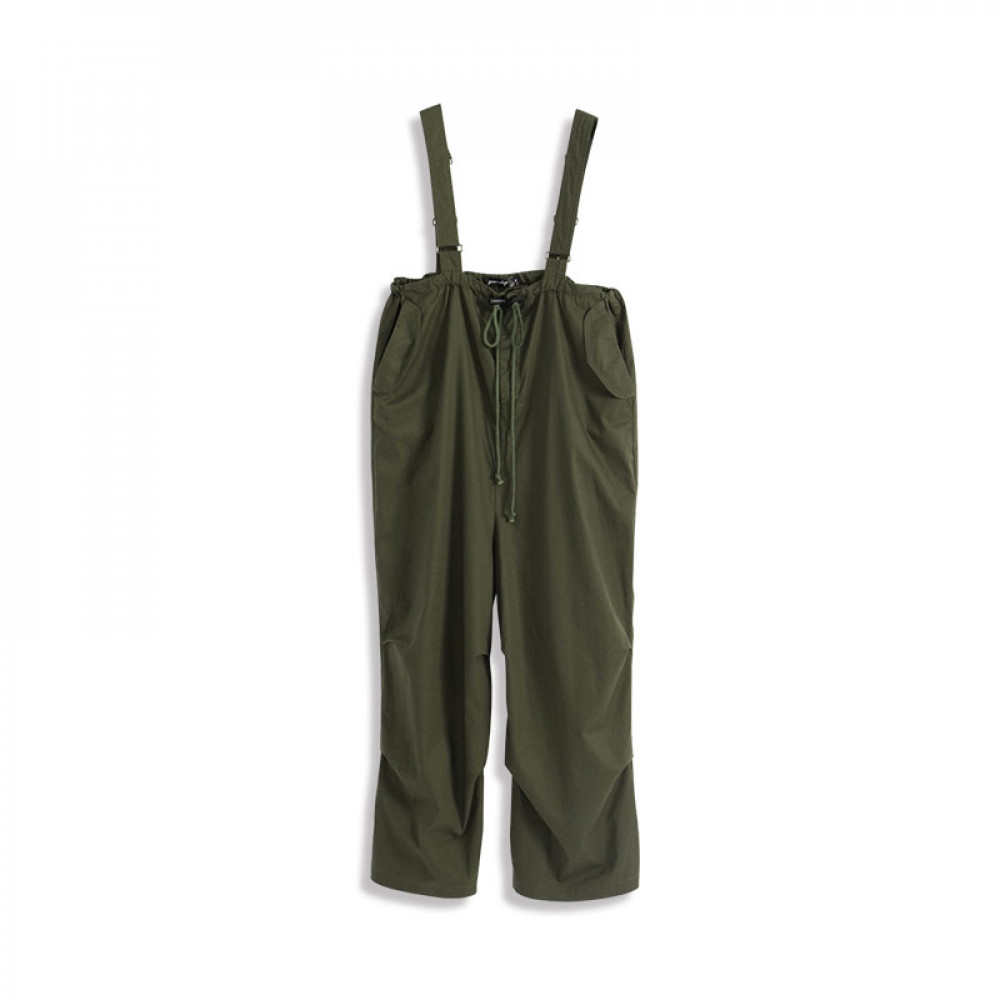 高腰抓褶抽繩吊帶寬褲 High Waist Pleated Drawstring Hanging Bandwidth Pants