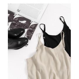 image of 素面吊帶連身褲 兩色售 Plain Suspenders Jumpsuit Two-Colors