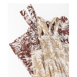 image of 樹葉印花連身褲 兩色售 Leaf Print Jumpsuit Two-Colors