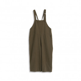 image of 休閒素色交叉吊帶褲 Casual Plain Crossover Pants