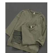 image of 親子系列 單邊立體口袋棉麻上衣 Parent-Child Series Single-Sided Three-Dimensional Pocket Cotton And Linen Top