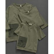 image of 童裝 親子系列 立體口袋棉麻衣 Children's Wear Parent-Child Series Three-Dimensional Pocket Cotton Linen