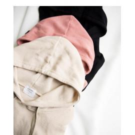 image of 素面造型寬袖連帽上衣 三色售 Plain-Faced Wide-Sleeved Hooded Top Three-Colors