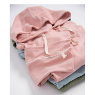 image of 寬袖抽繩設計連帽上衣 三色售 Wide-Sleeved Drawstring Design Hooded Top Three Colors