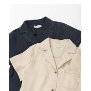image of 睡衣領撞色車線襯衫 兩色售 Pajamas Collar Color Line Shirt Two-Colors