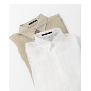 image of 簡約素色單口袋輕薄長袖襯衫 兩色售 Simple Plain Single Pocket Light Long-Sleeved Shirt Two-Colors
