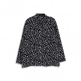 image of 滿版花紋雪紡襯衫 Full-Pattern Chiffon Shirt