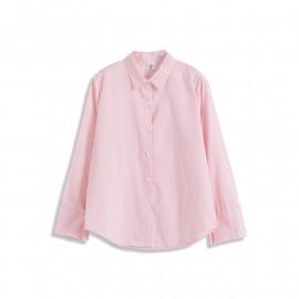 image of 繽紛細條紋長袖襯衫 三色售 Colorful Pinstripe Long-Sleeved Shirt Three Colors