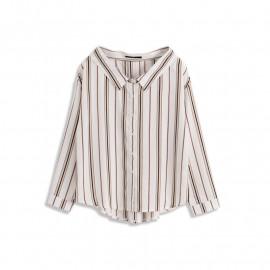 image of 寬領配色條紋襯衫 Wide Collar Color triped Shirt