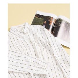 image of 配色樹葉造型襯衫 Color Matching Leaf Shape Shirt