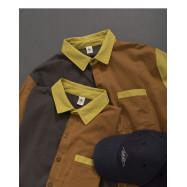 image of 造型拼接撞色單口袋襯衫 Styling Stitching Single-Pocket Shirt