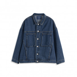 image of 雙大口袋設計牛仔外套 Double Large Pocket Denim Jacket