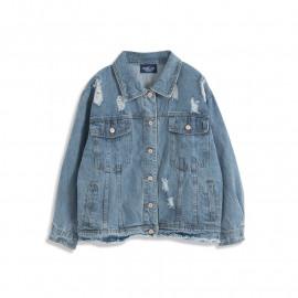 image of 刷破設計淺牛仔外套 Brushed Design Denim Jacket