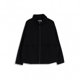 image of 造型抽繩拉鏈風衣外套 Model Drawstring Zipper Windbreaker Jacket