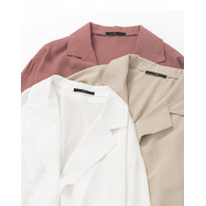 image of  單釦造型雪紡西裝外套 三色售 Single Button Shape Chiffon Suit Jacket Three Colors