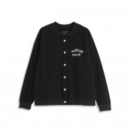 image of 立體刺繡字母棒球外套 Three-Dimensional Embroidery Letter Baseball Jacket