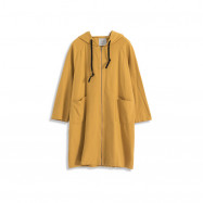 image of 雙口袋連帽斜紋抽繩外套 两色售 Double Pocket Hooded Twill Drawstring Jacket Two Colors