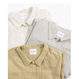 image of 雙口袋短版水洗外套 三色售 Double Pocket Short Version Washed Jacket Three Colors
