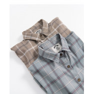 image of 格紋短版襯衫外套 兩色售 Plaid Short Shirt Two Colors