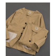 image of 撞色多口袋拼接長袖外套 Contrast Multi-Pocket Splicing Long-Sleeved Jacket