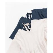 image of 簡單素色V領下擺荷葉造型洋裝 兩色售 Simple Plain V-Neck Hem Lotus Leaf Shape Dress Two Colors