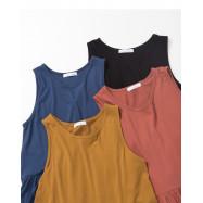 image of 素面蛋糕連身裙 四色售 Plain Cake Dress Four Colors