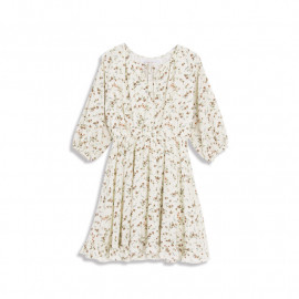 image of 小碎花領綁帶洋裝 Small Floral Collar Strap Dress