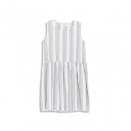 image of 直條紋無袖洋裝 Straight Striped Sleeveless Dress