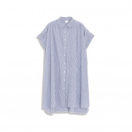 image of  寬版直條紋洋裝 Wide Straight Striped Dress