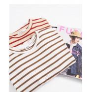 image of  細條紋側開衩設計長版洋裝 兩色售 Pinstriped Side Slit Design Long Dress Two Colors
