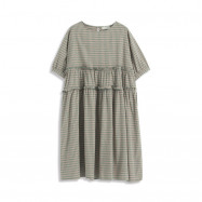 image of 小荷葉造型格紋洋裝 Small Lotus Leaf Shape Plaid Dress