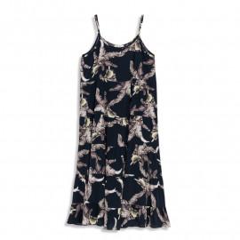 image of 葉子細肩帶洋裝 Leaf Thin Shoulder Strap Dress