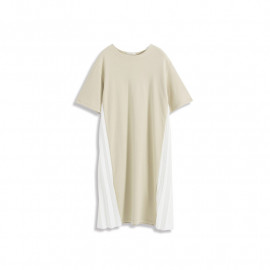 image of 素面側百褶造型洋裝 Plain Side Pleated Style Dress