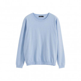 image of 基本百搭素面長袖針織毛衣 两色售 Basic Wild Plain Long-Sleeved Knit Sweater Two Colors