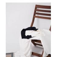 image of 簡約素色V領露肩針織上衣 兩色售 Simple Plain V-Neck Off-The-Shoulder Knit Top Two Colors