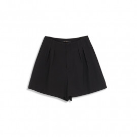image of 打褶設計素面西裝短褲 Pleated Design Plain Suit Shorts