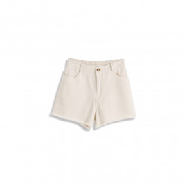 image of 棉麻感鬚邊短褲 Cotton And Linen Shorts