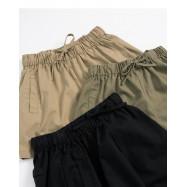 image of 鬆緊抽繩設計棉麻短褲 三色售 Elastic Drawstring Design Cotton And Linen Shorts Three Colors